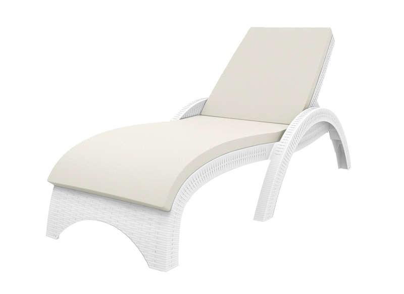 Chaise Longue De Jardin Blanc