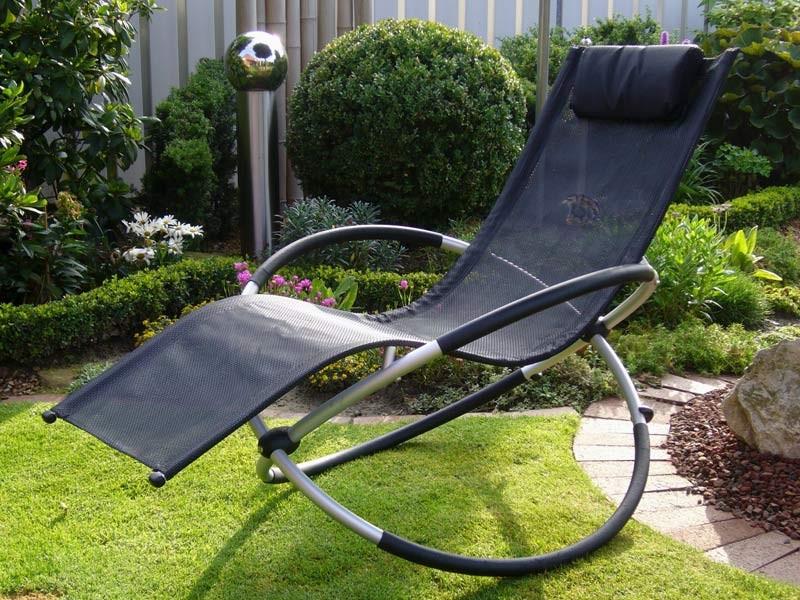 Chaise Longue En Toile De Jardin