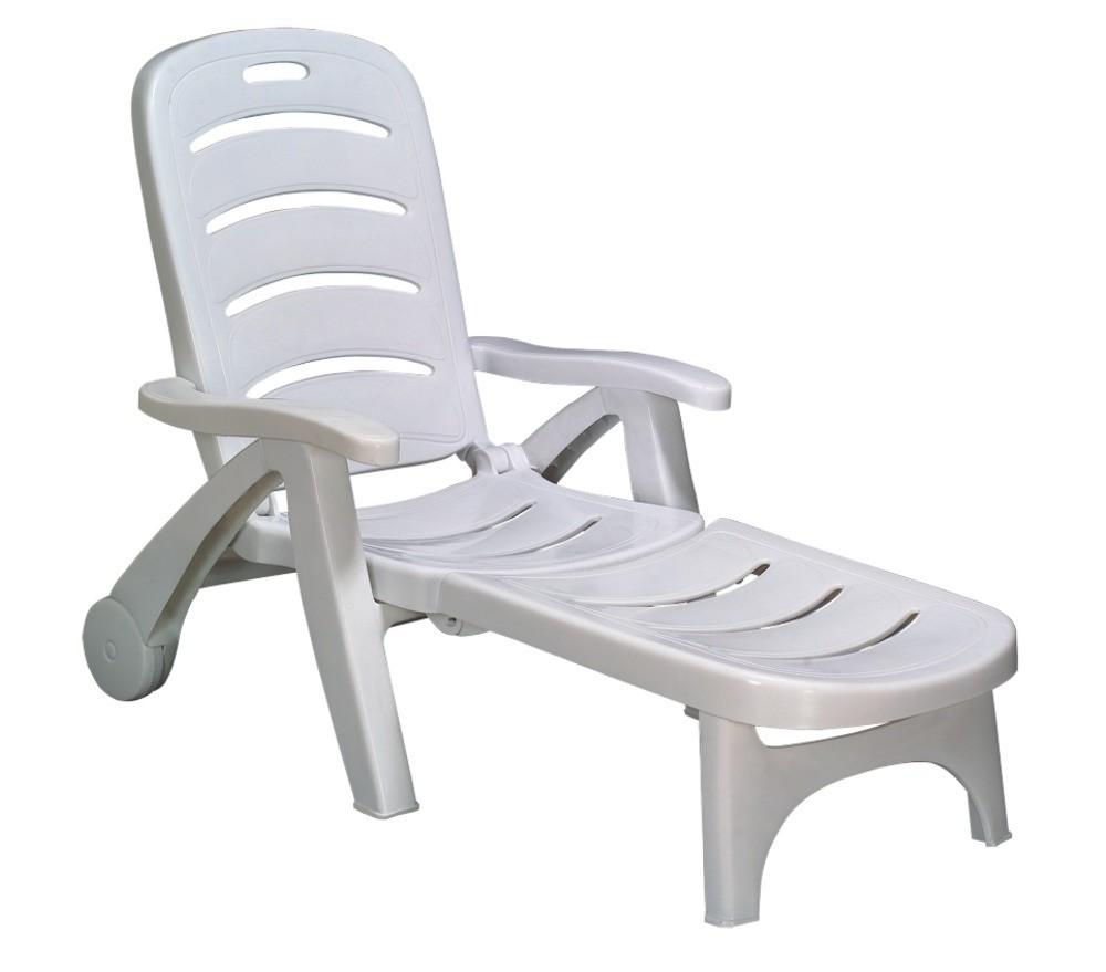 Chaise longue plastique blanc chaise id es de for Chaise longue plastique