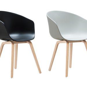 Chaise plastique et pied bois chaise id es de d coration de maison 89l7m - Chaise pied bois assise plastique ...