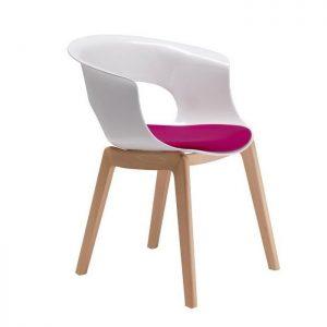 Chaise plastique et pied bois chaise id es de for Chaise pied bois