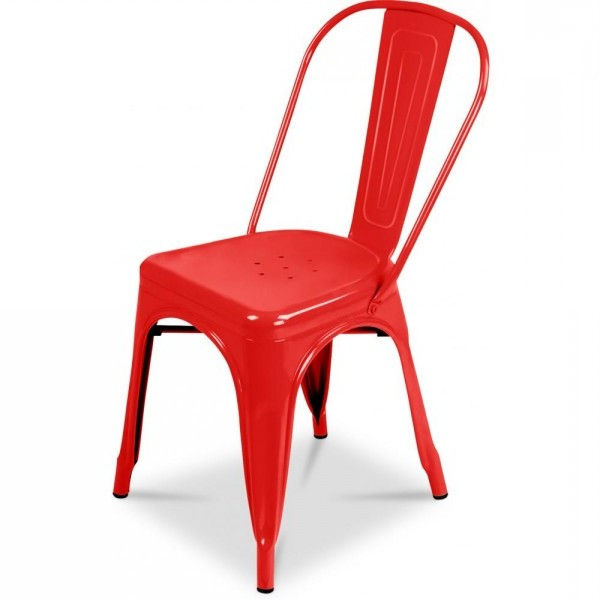 Chaise Pliante Metal Rouge
