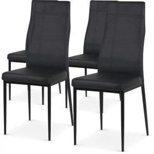 Chaise simili cuir noir conforama chaise id es de - Chaise simili cuir noir ...