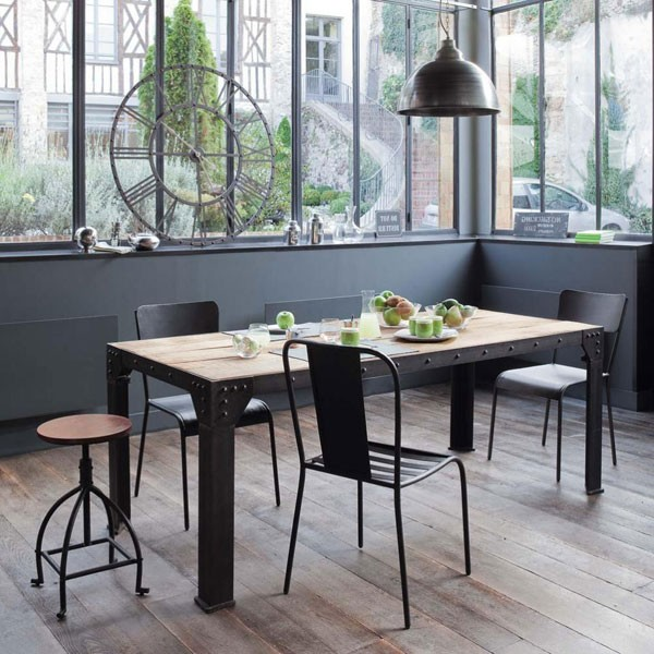 table a manger maison du monde table manger en manguier. Black Bedroom Furniture Sets. Home Design Ideas