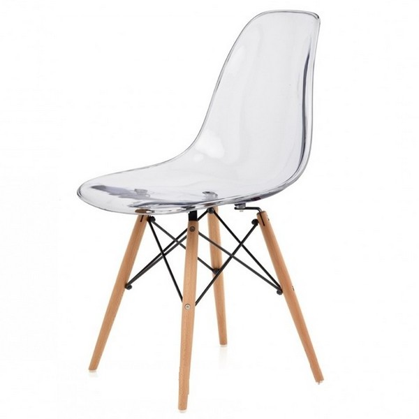Chaise transparente pied bois chaise id es de for Chaise transparente ikea