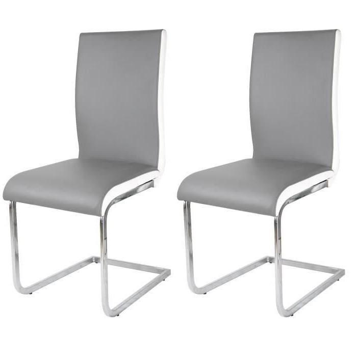 Chaises Design Grises Cdiscount