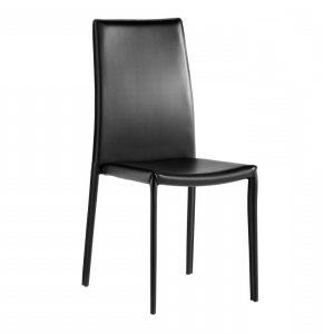 Chaises de cuisine cuir noir chaise idees de for Deco cuisine avec chaise cuir noir