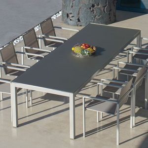 Ensemble Table Et Chaise De Jardin Alu
