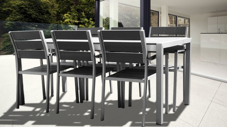 Ensemble Table Et Chaise De Jardin Aluminium