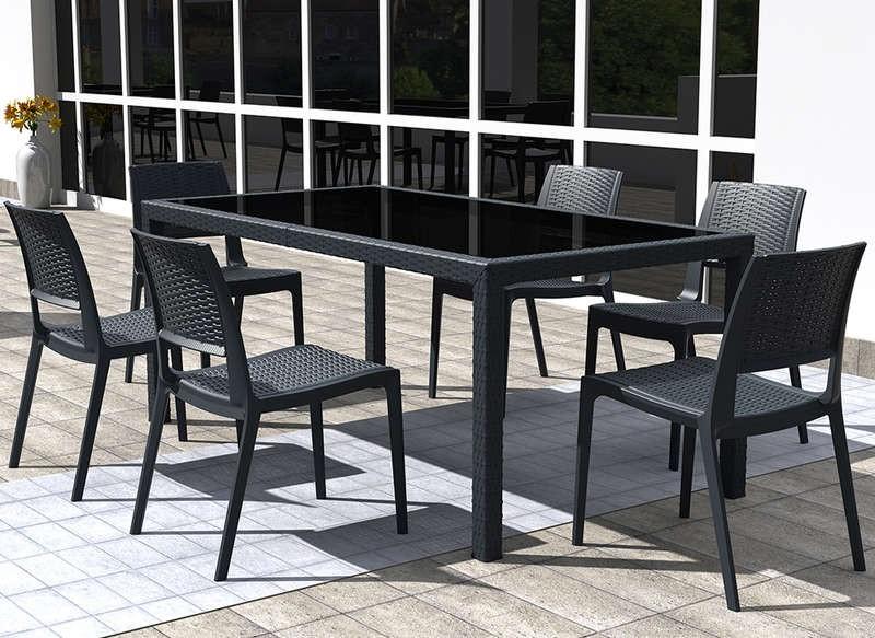 Ensemble Table Extensible Et Chaises De Jardin
