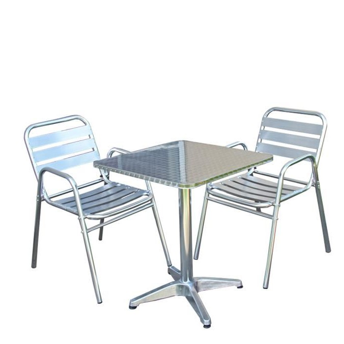 Table chaise bistrot aluminium chaise id es de for Chaise bistrot alu