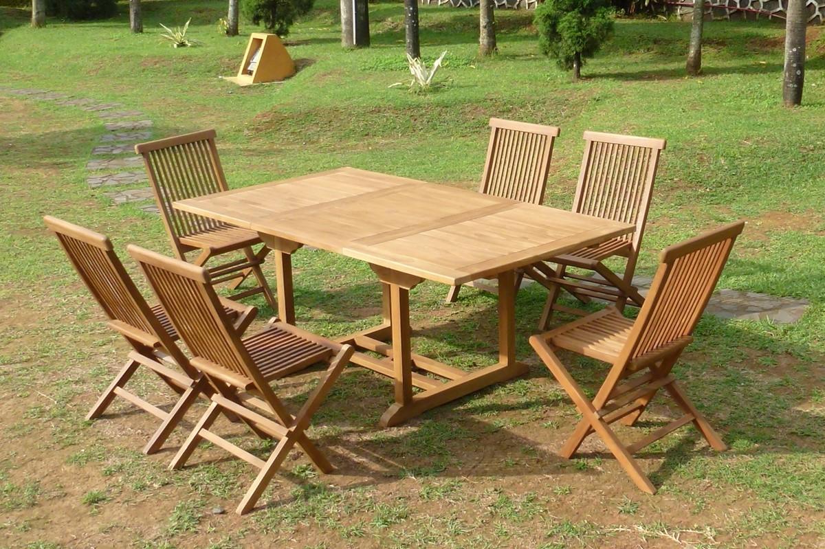 Table Et Chaise De Jardin En Teck