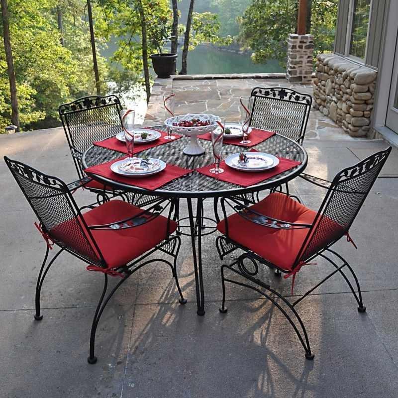 Table Et Chaise De Jardin Fer Forgé