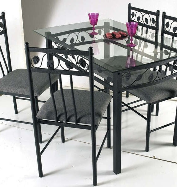 Table et chaise en fer forg conforama chaise id es de for Table en verre et chaise