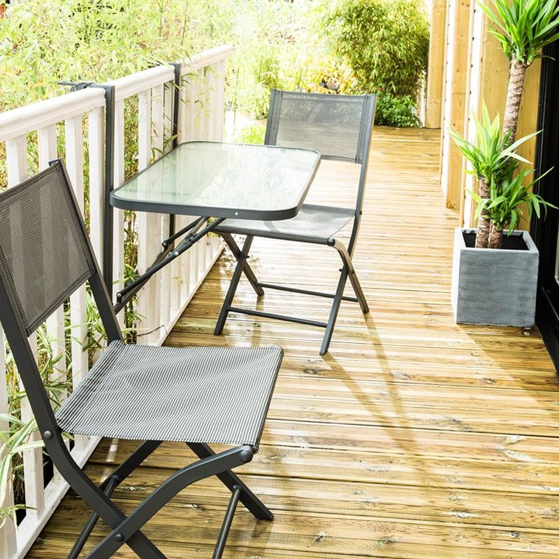Table et chaise pliante de balcon chaise id es de d coration de maison g - Table pliante chaises integrees ...