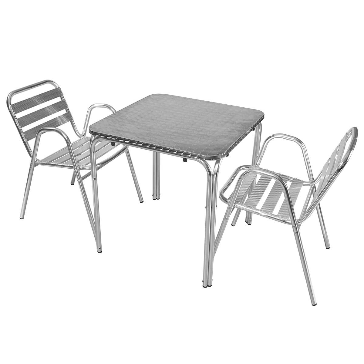 Table Et Chaises Bistrot Alu
