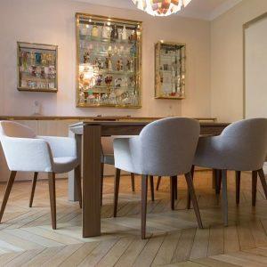 Chaises salle manger design italien chaise id es de for Table chaises salle a manger