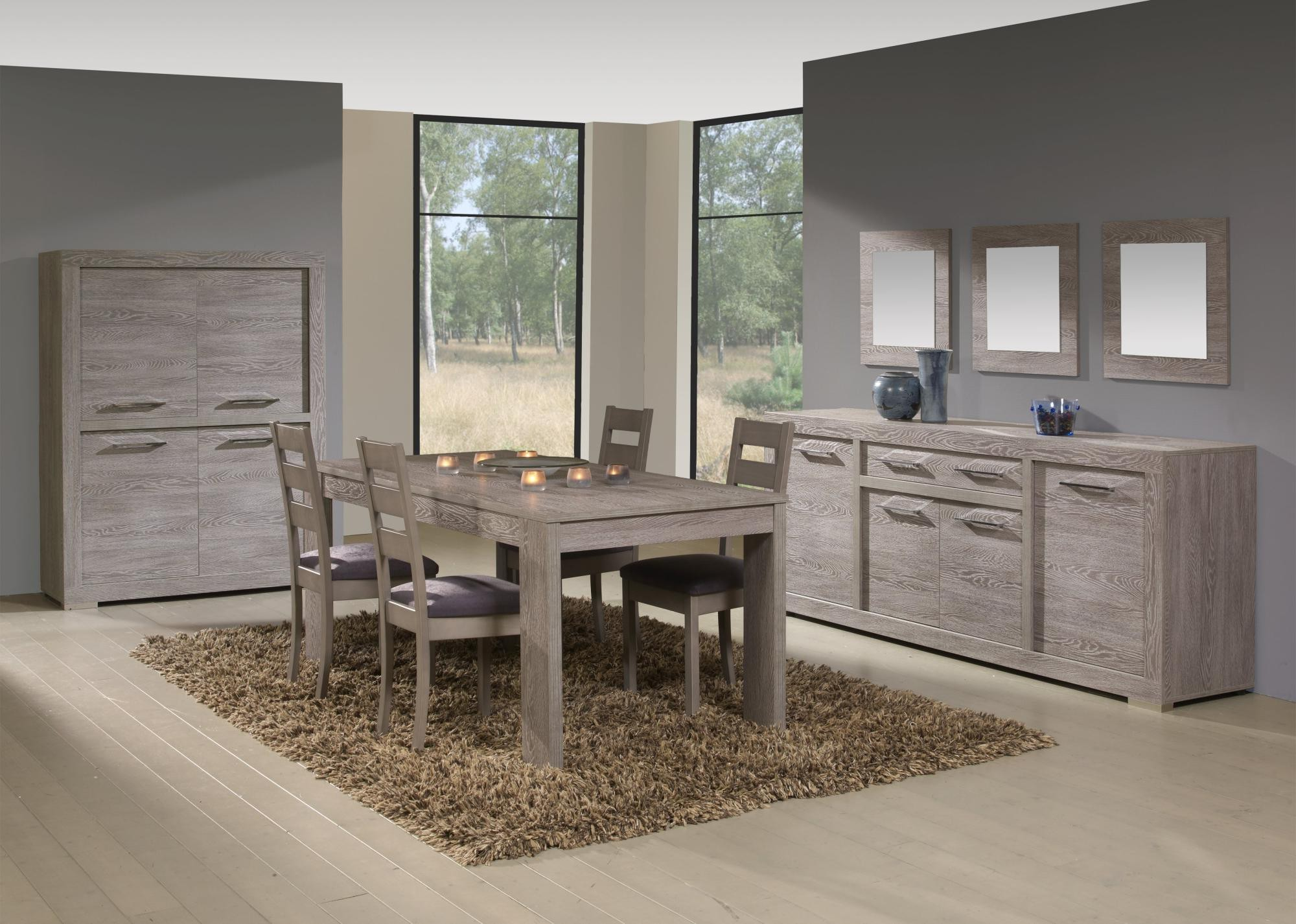 Table chaises salle manger design de maison for But salle a manger