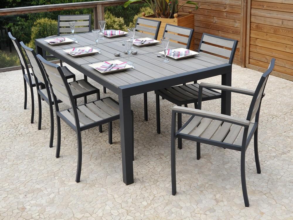 Table Plus Chaise De Jardin Aluminium