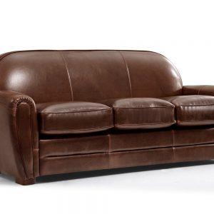 canap 2 places club en cuir vieilli baudoin canap. Black Bedroom Furniture Sets. Home Design Ideas