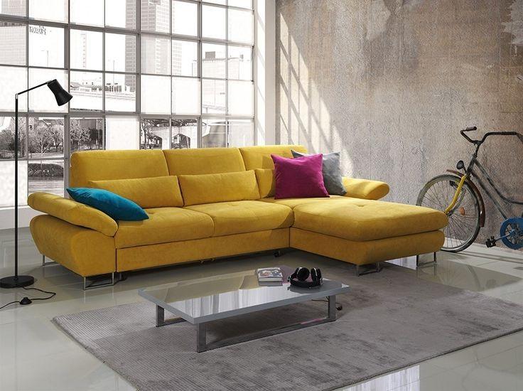 Canapé D'angle Convertible Milano En Cuir Avec Coffre De Rangement