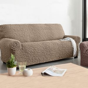 Housse de canap 3 places avec accoudoir conforama - Housse extensible canape 3 places ...