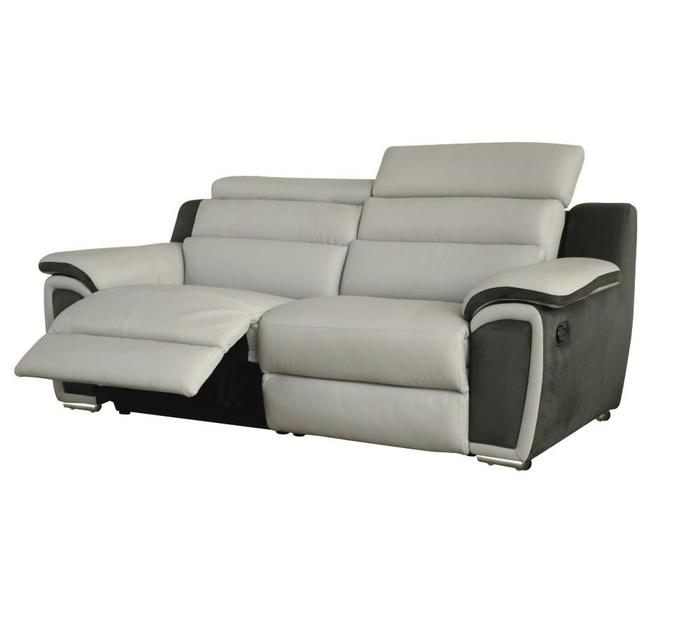 Canapé 3 Places Dont 2 Relax Electrique