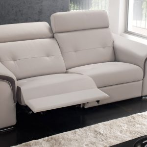 Canap cuir relax electrique 3 places monsieur meuble for Monsieur meuble canape william