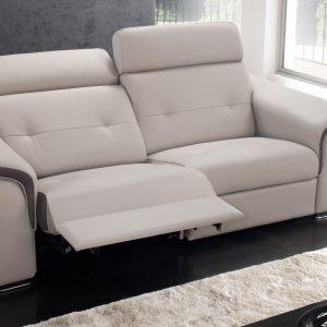 Canap cuir relax electrique 3 places monsieur meuble for Canape cuir monsieur meuble