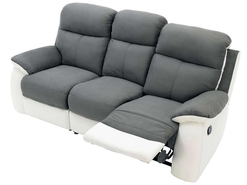 Canapé Cuir Relax Electrique 3 Places Conforama