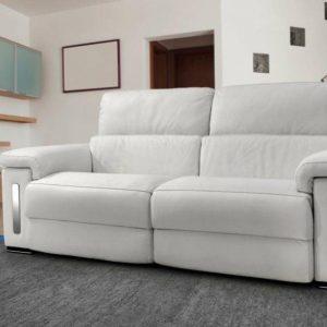 Canap cuir relax electrique 3 places monsieur meuble for Canape relax electrique ikea
