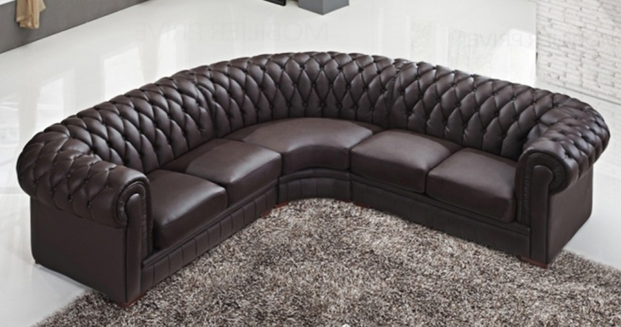 Canape D'angle Chesterfield Cuir