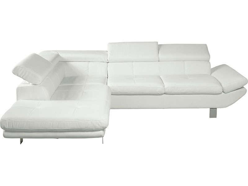 Canape D Angle Fixe Droit Loft Coloris Blanc