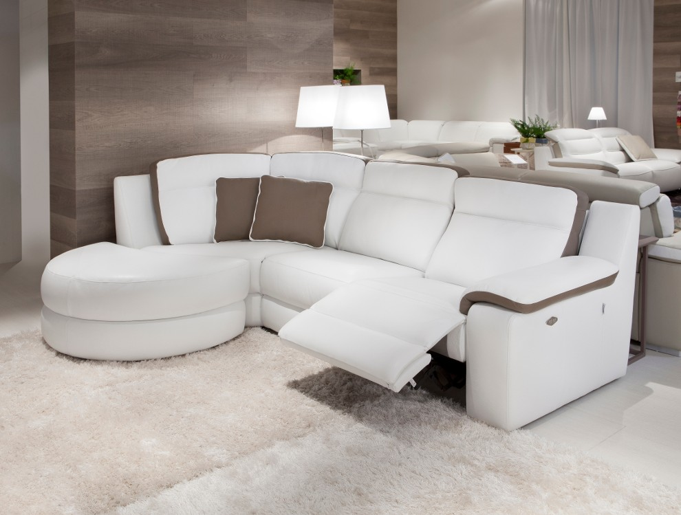 Canape Angle Cuir Relax Electrique