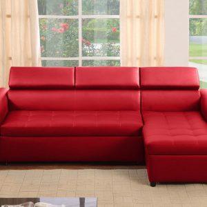 Canap d 39 angle cuir rouge et blanc canap id es de d coration de mais - Canape simili cuir rouge ...