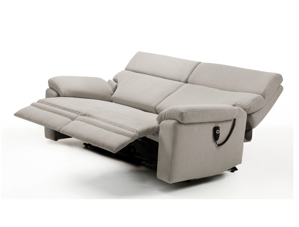 Canape 2 places relax electrique microfibre canap for Canape 2 places relax microfibre