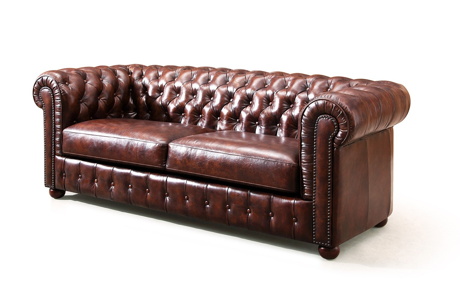 Canape Chesterfield Cuir Vintage