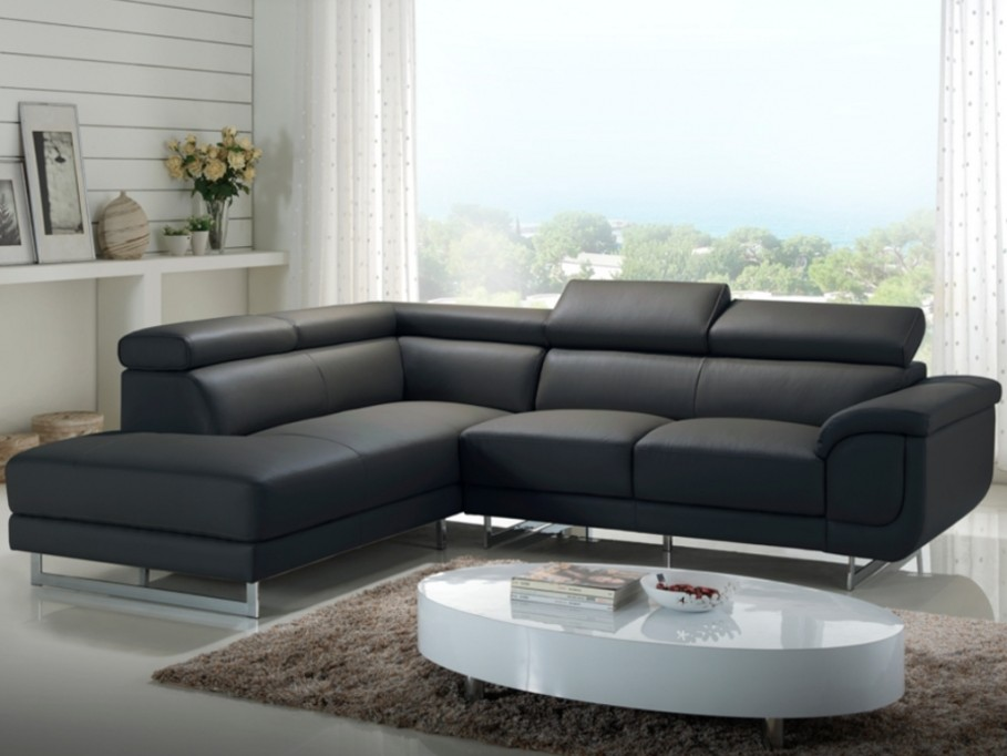 Canape D Angle Gris Anthracite