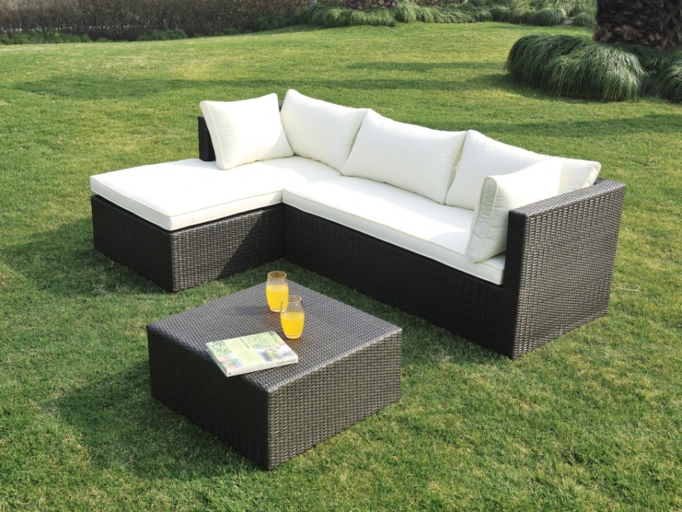 Canape Dangle De Jardin En Resine Tressee