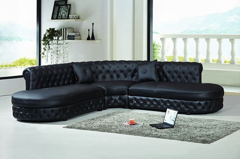 Canape Angle Chesterfield Cuir