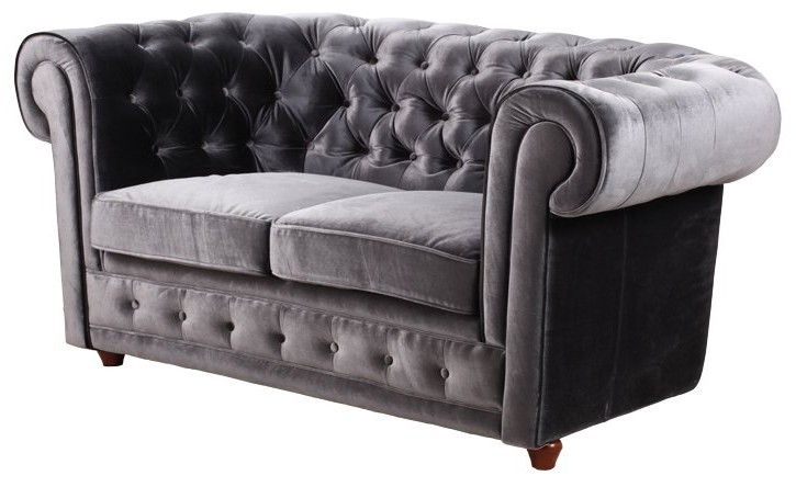 Canape Chesterfield Convertible Velours