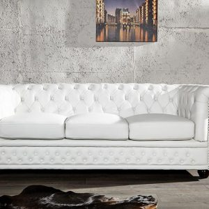 Canap chesterfield cuir blanc canap id es de for Canape chesterfield cuir blanc