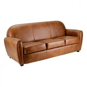 canap club aspect cuir vieilli canap id es de. Black Bedroom Furniture Sets. Home Design Ideas