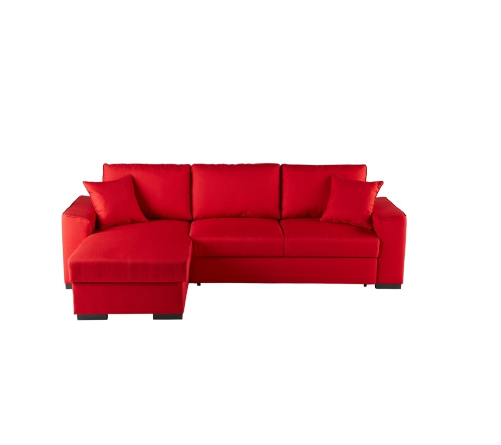 Canape convertible cuir rouge but canap id es de for Canape cuir rouge