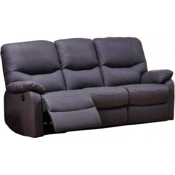 Canape Cuir Relaxation Electrique 3 Places
