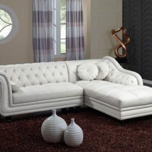 Canap d 39 angle chesterfield convertible canap id es for Canape chesterfield cuir blanc