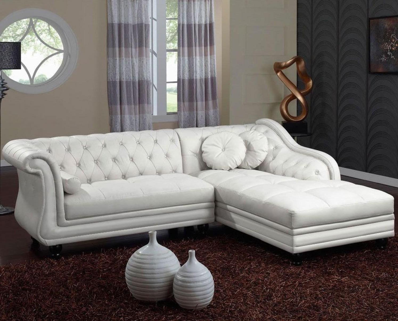 Canape dangle chesterfield cuir blanc canap id es de for Decoration de canape