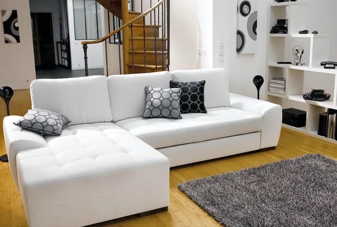 Canapé D'angle Convertible Cuir Conforama