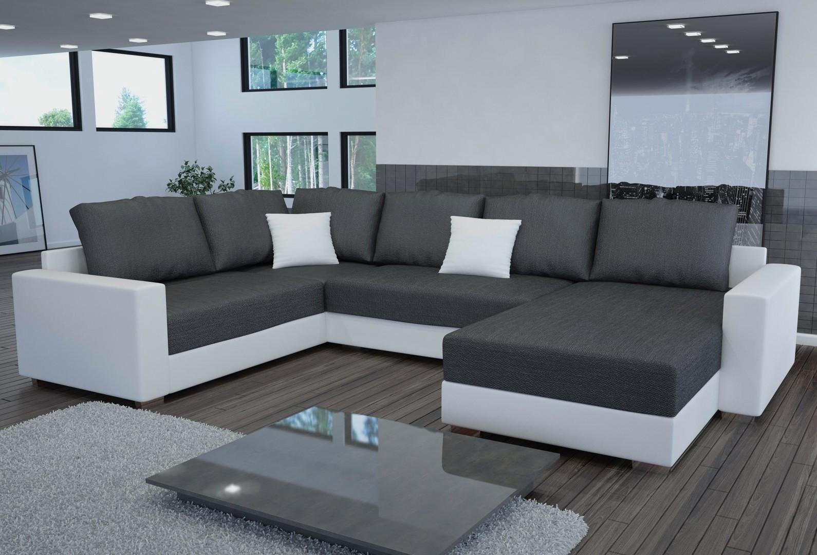 Canape Dangle Convertible Design En Tissu Et Eco Cuir Massimo
