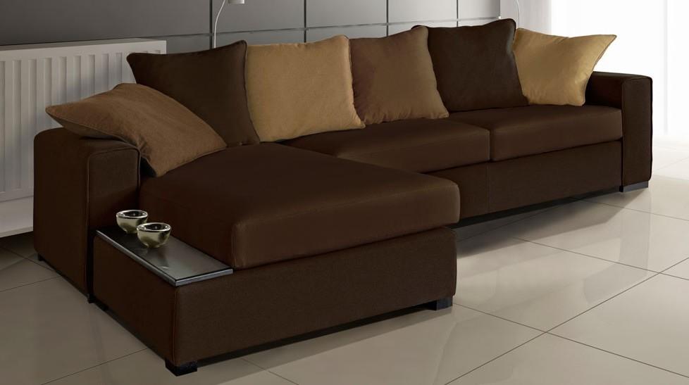 Canapé D'angle Marron Beige